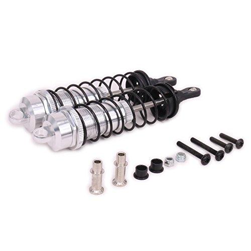 RCAWD Amortisseur d'amortisseur F81005 Aluminium en Alliage de 140 mm pour Rc Hobby mm pour Rc Hobby Modèle Voiture 1/8 Pièces de démarrage améliorées HPI HSP Traxxas Losi(Argent)