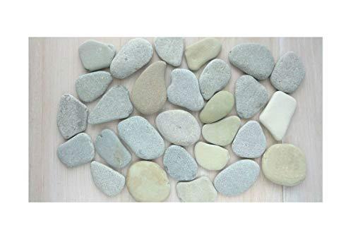 DIY Art Studio ZenStones / 7 Large Flache Steine zum Bemalen/Seesteine/Dekosteine/Pebbles/Mandala/Muschelkiesel/Strandsteine/Kunststeine/Stranddekor/Strandkunst