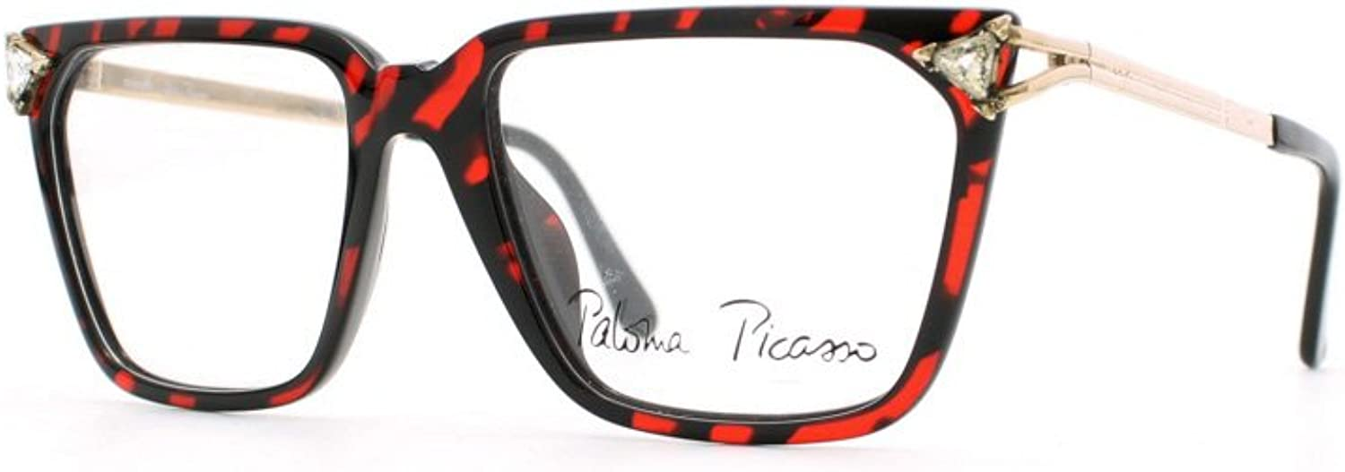 Paloma Picasso 3752 30 Red and Black Authentic Women Vintage Eyeglasses Frame