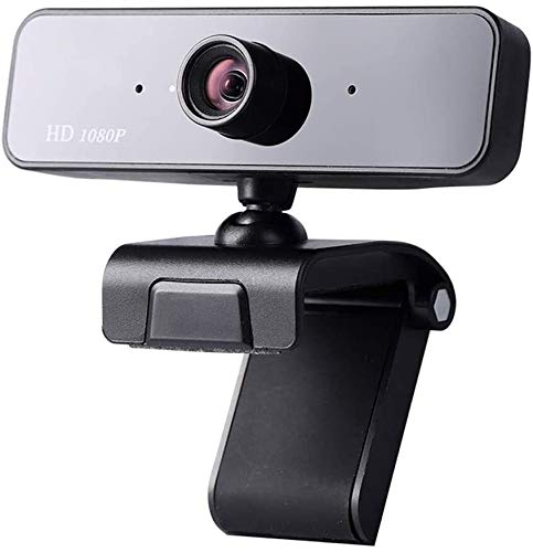 1080P USB Webcam Works for Live Class Conference Video Camera Desktop Laptop Webcams in de ingebouwde stereo microfoon, Web Camera met 360 ° draaibare Clip