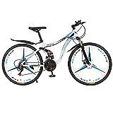 Adulto MTB Bicicleta Bikes, 26 Pulgadas 21 Velocidades 3 Cuchillos Rueda Montaña Rueda Bicicleta, Doble Disco Freno
