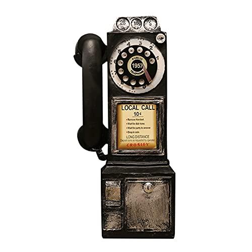 XIAOJUN Retro teléfono de Pared Vintage,Teléfonos Fijos Retro Spin Classic Look at The,Modelo Retro Booth Decoración del Hogar, Decoraciones