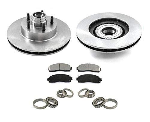 For 03-11 Ranger Rear Wheel Drive 4W ABS Front Brake Rotors Pads Wheel Bearings