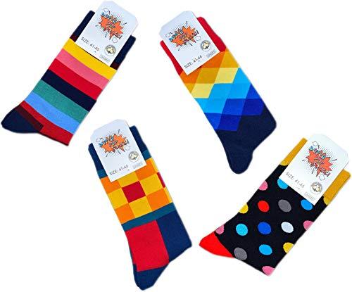 Pagel Strumpfimporte 4 Paar bunte Herrensocken Dutch Pop Socks