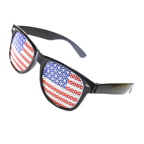 Niedliche Sonnenbrille Partybrille Spaßbrille Brillen Kostüm Gläser Party Zubehör in vielen Motiv - USA Flagge