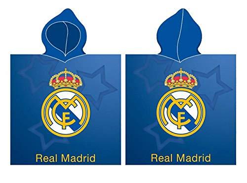 Real Madrid Poncho Playa Toalla Tiempo Libre y Sportwear Unisex Infantil, Juventud (Multicolor), Talla Única