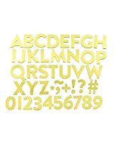 """Teresa Collins Magnetic Alphabet And Characters 8""""X8""""X2""""-Gold"""