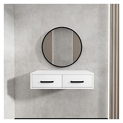 Directry Tavolo con spogliatoio a parete con specchio moda trucco per trucco armadio camera da letto camera piccolo appartamento mini cassettiera in legno banco di vanità ( Color : Black )