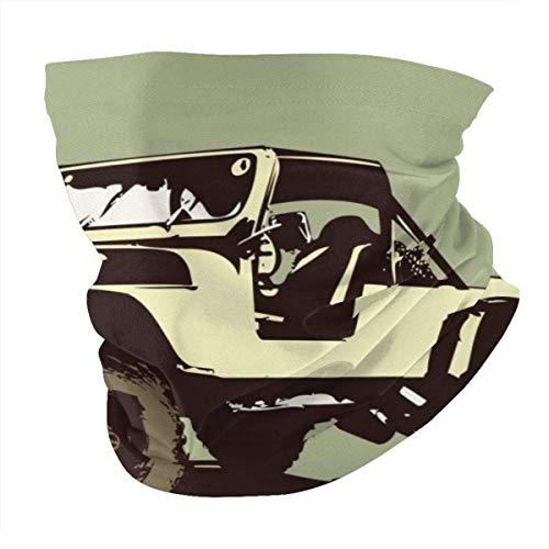 YRMP Style Vintage Car Jeep Summer Bandana Mascarilla Facial -Balaclava Bufanda Dust Sun UV Protection Fishing Polaina de Cuello - para Hombres y Mujeres Negro