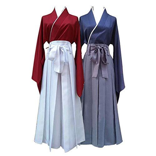 COSPARKY Anime Rurouni Kenshin Himura Kenshin Cosplay Halloween Kostüm Kendo Anzug für Frauen Männer Full Set weiblich rot