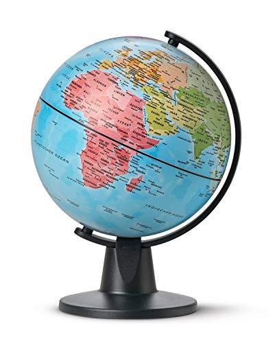 Idena 22068 - Globus mit politischem Kartenbild, ca. 11 cm Durchmesser, ideal für die Schule