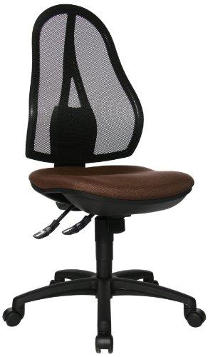 Topstar OP200G08 Open Point SY, Bürostuhl, Schreibtischstuhl, ergonomisch, Bezug dunkelbraun