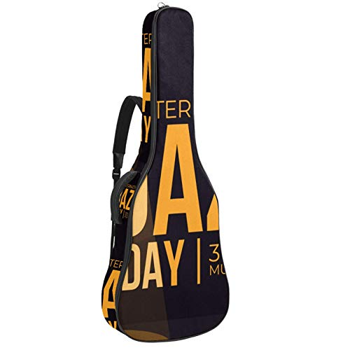 Bolsa para guitarra impermeable con cremallera, suave para...