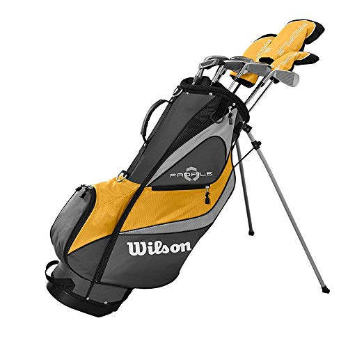 Wilson Profile XD Men's RH Flex Graphite Steel Golf Club Stand Bag Set, Gold