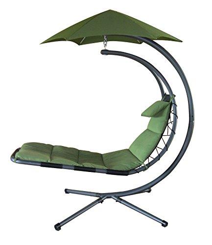 Vivere DREAM-RO Hänge Sessel Polyester, dunkel Grün