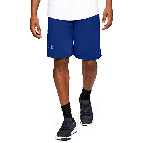 Under Armour Men's Raid 10-inch Workout Gym Shorts , Royal (400)/Steel , X-Large