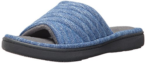 Women's Space Dyed Andrea Slide Slipper with Moisture Wicking for Indoor/Outdoor Comfort and Arch Support, isotoner, sapphire, X-Large, 9/10