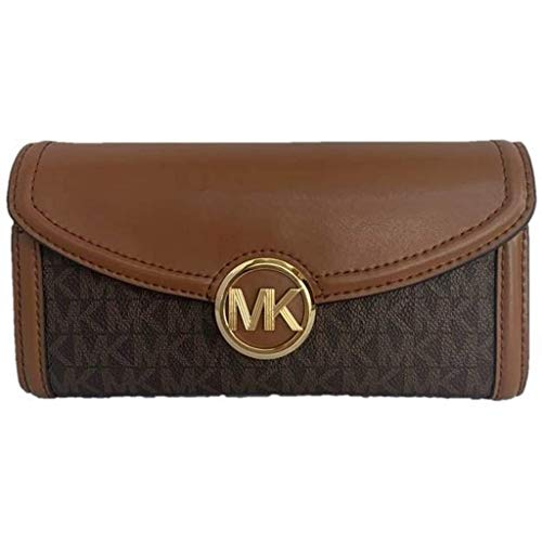 Michael Kors Fulton Large Flap Continental Wallet (2019) - Brown