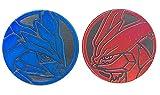 Official Pokemon Coin Set - Black Kyurem & White Kyurem - Holo FOIL Shiny - Trading Card Game Flipping Coin