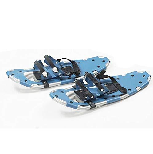 PinkDreamland Schneeschuhe, Frauen Männer Aluminium Schneeschuhe Qualität Outdoor Klettern Winter Walk Schneeschuh mit einstellbaren Bindungen, die blau tragen