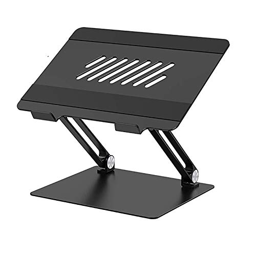 Aluminum Alloy Folding Laptop Stand, Portable Adjustable Computer Stand, Heat Dissipation Stand,Black