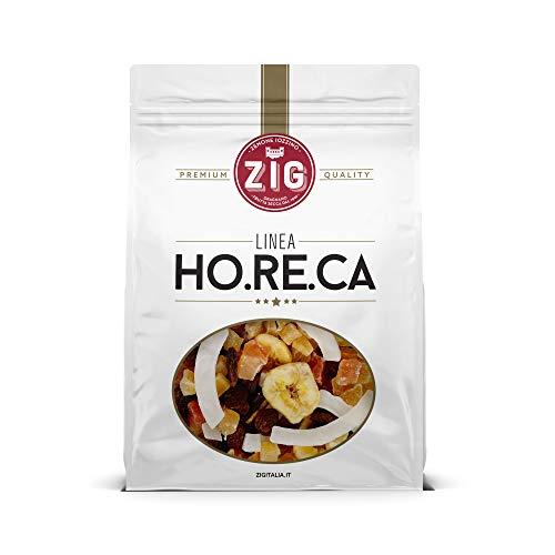 ZIG - HORECA - Misto frutta esotica Exotic mix snack| Ananas, papaia, cocco, uva, banana chips 1 Kg