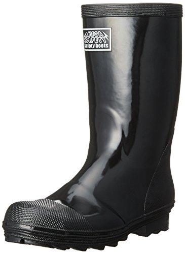 [キタ] 安全長靴 作業長靴 メガセーフティ スタンダード安全長靴 KR-9010 ブラック JP 30.0(30cm)