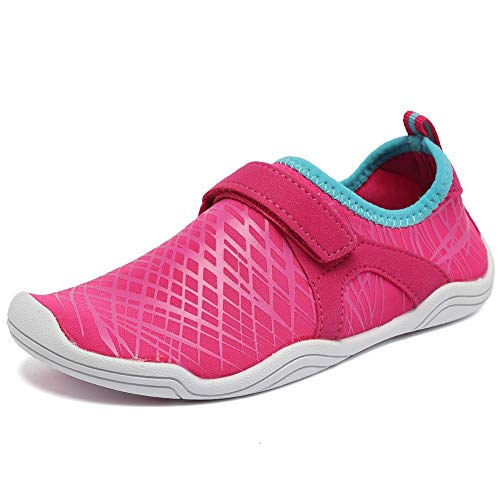 CIOR Boys & Girls Kids Water Shoes Quick Drying Sports Aqua Athletic Sneakers Lightweight Sport Shoes(Toddler/Little Kid/Big Kid) DKSX-Pink-31