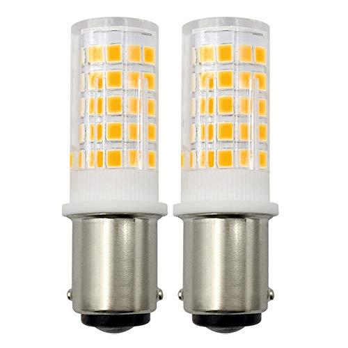 SBC B15 Ledlamp, dimbaar, 4 W, warm wit, 40 W, halogeenequivalent B15D 240 V, kleine bajonet gloeilamp 3000 K voor naaimachine/applicatielampen, 2-pack [meerdere weg]