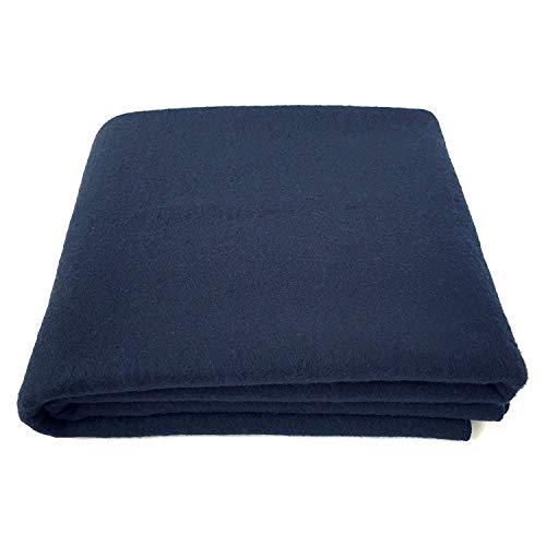 Couverture 100% laine EKTOS, bleu marine, chaud et lourd 5,5 lb, grand ...