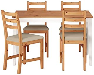 Ikea Table and 4 chairs, light antique stain, Vittaryd beige 14202.2235.3038