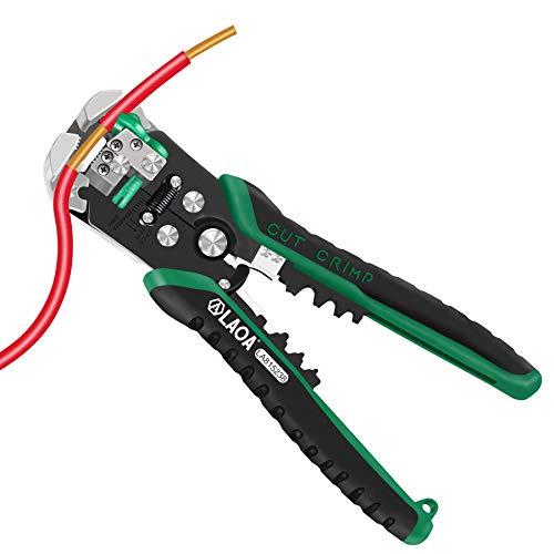 LAOA Pelacables eléctrico automático herramienta pelacables auto ajustable de 8 AWG a 26 AWG para electricista que prensa