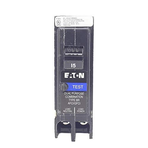 BR 15 Amp 1-Pole Dual Function (Arc Fault/Ground Fault) Plug-On Neutral Circuit Breaker