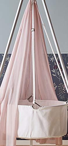 Schleier (Himmel) für die Leander-Babywiege - dusty rose - OHNE Wiege und Stativ
