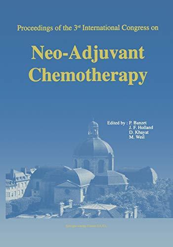 Proceedings of the 3rd International Congress on Neo-adjuvant Chemotherapy