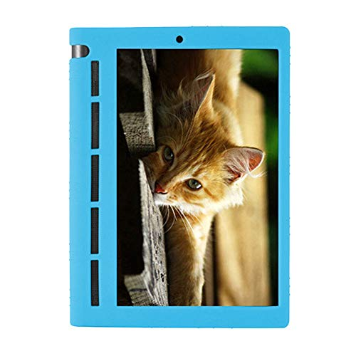 Deylaying Funda Silicona para Lenovo Yoga Tab 3 10 - Shockproof Resistente Case Funda Protectora Estuche Caso para Lenovo Yoga Tab 3 10 YT3-X50F/M/L 10.1 Inch,Cielo Azul