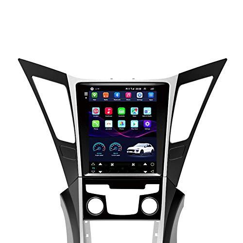 Kilcvt GPS Sat Nav, 9 Pulgadas/Android 10 Estéreo De Navegación GPS para Automóvil, para Hyundai Sonata 8th Generation 12-15 Soporte De Pantalla Vertical Control del Volante/Bluetooth,4g WiFi 2g+32g