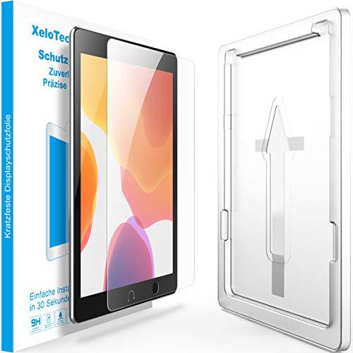 XeloTech Schutzglas passend für iPad 10.2 Zoll Einfache & Schnelle Installation der Schutzfolie - Kompatibel mit Hülle & Case - Unsichtbarer Displayschutz