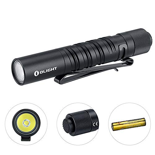 Olight I3T EOS CU 180 Lumens Slim EDC AAA Flashlight, Philips LUXEON TX CW LED Powered by Single AAA Battery, Dual Output Tail Switch, Beautiful Unique Double Helix Knurling I3T Copper