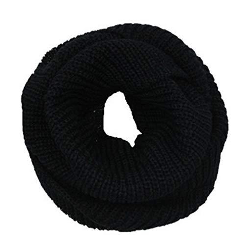 Qinghengyong Doble Círculo Caliente Pañuelo Las Mujeres del Invierno Hombre Bufanda Larga para Silenciador Hilado de Lana Bufanda Suave Bufandas Black