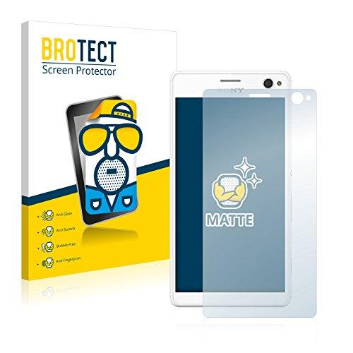 BROTECT 2X Entspiegelungs-Schutzfolie kompatibel mit Sony Xperia C4 Bildschirmschutz-Folie Matt, Anti-Reflex, Anti-Fingerprint