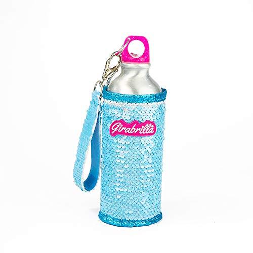 Girabrilla- Nice Group Eco Bottle 24h 500 ml-Bottiglia Ecologica in Alluminio con Un Scintillante Rivestimento Rimovibile di paillettes-02534C, Colore Sparkly Acquamarina Nuvola, 02534C