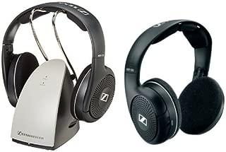 Sennheiser RS120 On-Ear Wireless RF Headphones with Charging Dock and HDR120 Supplemental HiFi Wireless Headphone Bundle