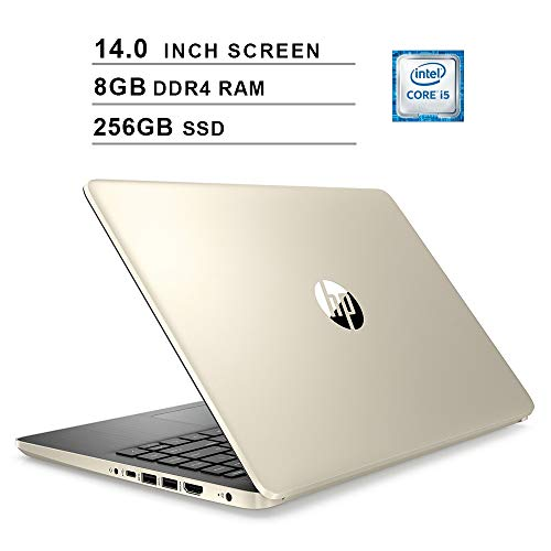 2020 HP Pavilion Newest 14 Inch Laptop, 10th Gen Intel 4-Core i5-1035G1 up to 3.6GHz, Intel UHD Graphics, 8GB DDR4 RAM, 256GB SSD, WiFi, Bluetooth, HDMI, Webcam, Windows 10 Home, Gold