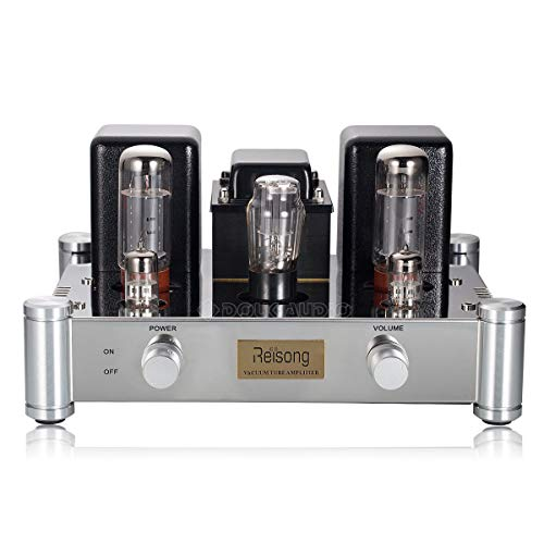 Nobsound® Hi-End Home Audio HiFi 2.0 Channel, Amplificatore a tubo EL34B Stereo, Audio Single-Ended Tube Amplifier 12W x 2