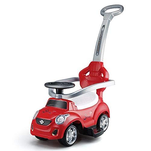 Hejok NiñOs Twist Car, Children's Twist Car 1-3 Baby Yo Scooter De Auto con Volante De Cuatro Ruedas con Ruedas De Mano De MúSica Twist Swing Cars