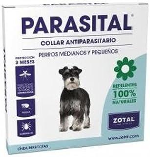 Collar Antiparasitario para Perros Pequeños y Medianos de Parasital - Zotal, Repelente ante Mosquitos, Pulgas y Garrapata...