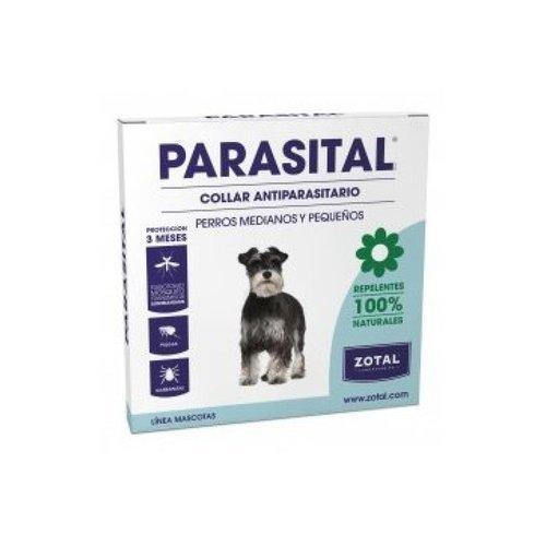 Parasital Collar Antiparasitario para Perros Pequeños y Medianos de Zotal, Repelente ante Mosquitos, Pulgas y Garrapatas