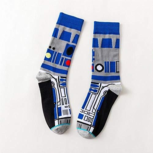 HPPL Star Wars Medias de Cine Papel Principal Que Juega Calcetines Caballero Wookie Novedad de Hombres y Mujeres, 1