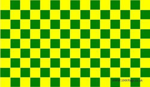 Vert/jaune 5 'x3'Drapeau à carreaux